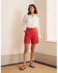 Boden Short Cornwall en lin - Rouge