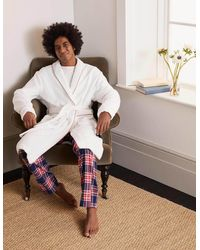 Boden Towelling Dressing Gown - White