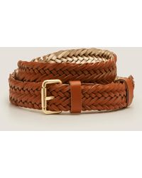 Boden Woven Leather Belt Brown