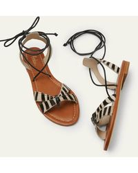Boden Amelie Sandals Zebra - Black