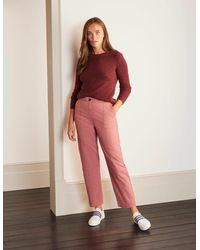 Boden - Rothes Seam Detail Pants Dusty Rose - Lyst