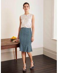 Boden Violette Skirt Daisy Petals Prints - Blue