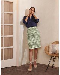 Boden Gabriella Pencil Skirt Pea, Pineapple Geo - Green