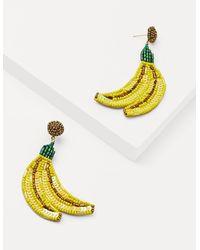 Boden Embellished Earrings Banana Yellow
