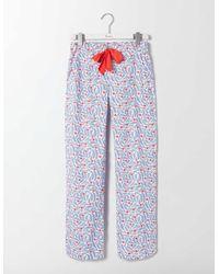 Boden Pj Pants Floral Pop - Blue