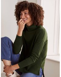Boden Chaldon Stitch Detail Jumper Christmas , - Green