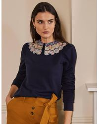 Boden Hattie Collar Sweatshirt - Blue