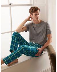 Boden - Pyjamahose aus gebürsteter Baumwolle GRN - Lyst