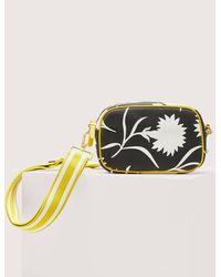 Boden Olivia Canvas Crossbody Bag , Leafy Bud - Black
