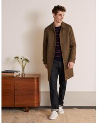 Boden Eldon British Tweed Overcoat - Brown