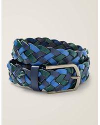 Boden Ceinture en cuir tressé - Bleu