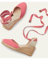 Boden Cassie Espadrille Wedges Azalea - Pink