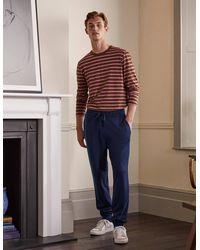 Boden Merino Blend Knitted Joggers - Blue