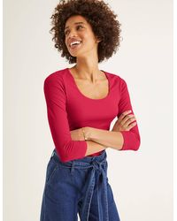 Boden Double Layer Front Top - Pink