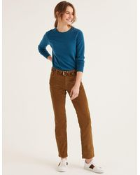 Boden Cord Slim Straight Jeans Gingerbread - Brown