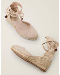 Boden Cassie Espadrille Wedges Oatmeal - Natural
