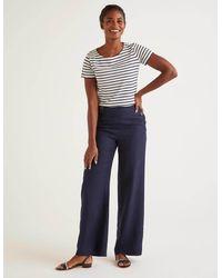 Boden Falmouth Linen Pants - Blue