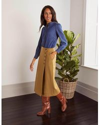 Boden Darcey Midi Skirt Camel - Brown