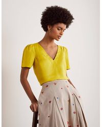 Boden Heidi Top Chartreuse - Yellow