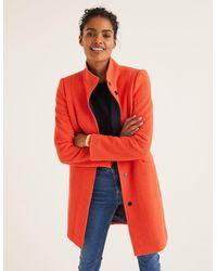 Boden Hengrave Coat Fire Cracker - Orange