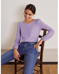 Boden Supersoft Long Sleeve Tee Cool Violet - Purple