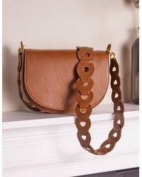 Boden Link Detail Crossbody Bag - Brown
