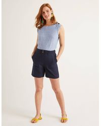 Boden Filey Seamed Pocket Shorts - Blue