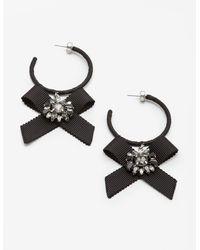 Boden Cordelia Hoop Earrings - Black