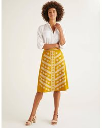 Boden Eyre Embroidered Skirt Yellow