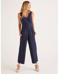 Boden Dorothea Wrap Jumpsuit - Blue