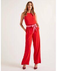 Boden Lottie Jumpsuit Red - Pink