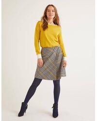 Boden Eleanor Tweed Kilt - Gelb