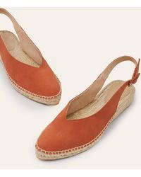 Boden Slingback Espadrille Sandals Copper Red - Brown