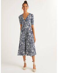 Boden Kassidy Jersey Midi Dress - Blue