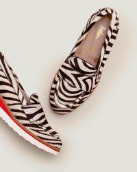 Boden Elizabeth Platform Loafers Zebra - Black