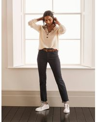 Boden Slim Straight Jeans , - Grey