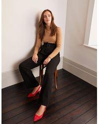 Boden Powis Wide Leg Trousers - Black