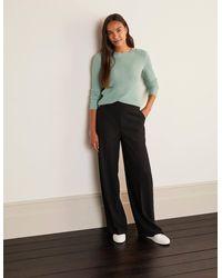 Boden Kintore Wide Leg Trousers - Black
