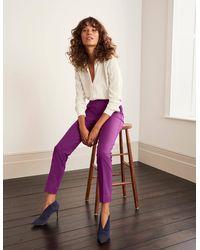 Boden Richmond 7/8 Trousers - Purple