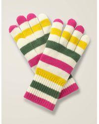 Boden Cashmere Gloves Multi - White
