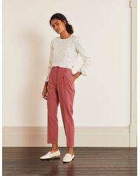 Boden Bridport Straight Leg Trousers - Pink