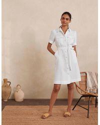 Boden Carrie Hemdblusenkleid aus Leinen WHT - Weiß