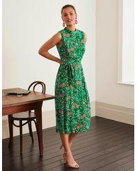 Boden Zada Midi Dress Rich Emerald, Wild Field - Green