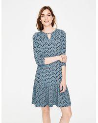 Boden Selena Jersey Dress - Blue