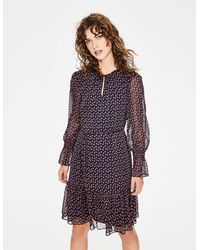 Boden Libby Dress And Conker Geo - Blue
