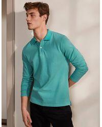 Boden Langärmliges Piqué-Poloshirt MBL - Grün