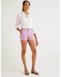 Boden Daisy Chino Shorts Lupin - Purple