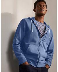Boden Winsford Twill Zip-up Hoodie Inky Men , Inky - Blue