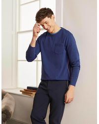 Boden Rye Double-faced Crew - Blue