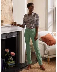 Boden Cord Girlfriend Jeans Light Olive , Light Olive - Green